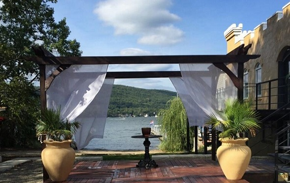 Outdoor Ceremony, Cove Hall, beautiful waterfront space located in Greenwood Lake, NY.