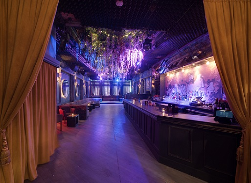 Interior of Doux Supperclub, a Flatiron District Manhattan event space for exclusive posh events.