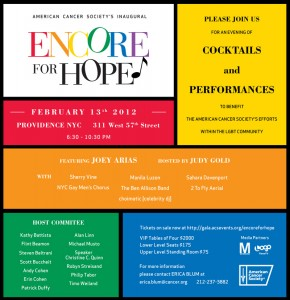 ENCORE For Hope at Metronome's Providence NYC